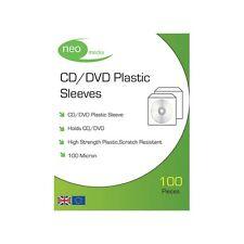 3 x Neo Media PVC CD/DVD Manchon de protection (100 micron) / 100 par paquet