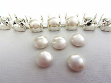 6 White Swarovski Crystal Cabochon Pearls 5817 8mm