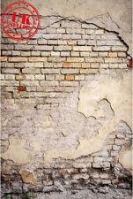 GRUNGE BRICK GREY BACKDROP WALLPAPER BACKGROUND VINYL PHOTO PROP 5X7FT 150x220CM
