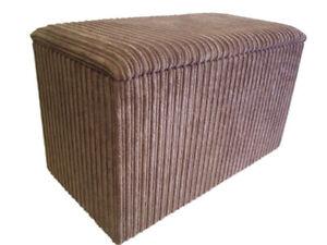 Ottoman / Toy Box / Hide Away Storage Solution - Camel Jumbo Cord