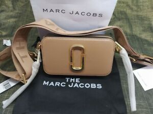 BNWT Marc Jacobs Logo Strap Snapshot Sunkissed Pink Camera Crossbody Bag
