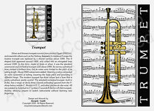 JCL Beautiful original stunning metallic gold and black Trumpet card gift