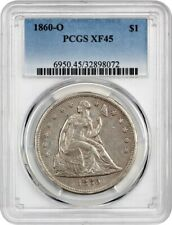 1860-O Liberty Seated Dollar _ PCGS XF-45 _ No Problems Here !!!