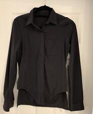 Lululemon Urbanite Shirt Black SZ 6 EUC RARE FIND
