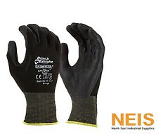 Maxisafe Black Knight Gripmaster Coated Safety Gloves Large