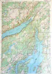 1940 Allyn Quadrangle Washington USGS Army Corps Topo Tactical Vtg Map
