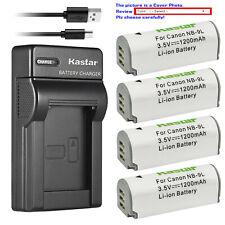 Kastar Battery Slim Charger for Canon NB-9L CB-2LB & Canon Powershot ELPH 520 HS