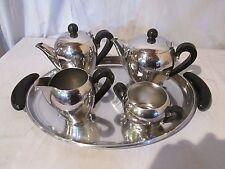 set completo caffé e the  in acciaio design Carlo Alessi 1946 serie bombata