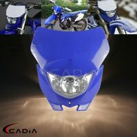 Enduro Motocross Headlight Fairing For Yamaha WR450F Dirt Bike Blue Headlamp