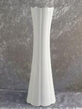 Schumann Arzberg Porzellan schlanke weisse Vase Designvase Tischvase 70er 27 cm