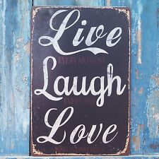 Collectibles Plaque Live Laugh Love Metal Tin Signs Art Wall Cafe Home Decor
