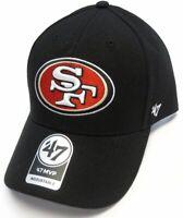San Francisco 49ers 47 Brand MVP Wool Adjustable Field Classic Black Hat Dad Cap