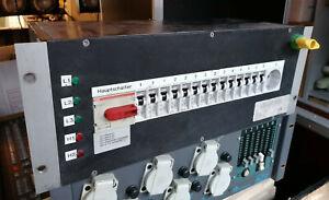 """32A CEE Stromverteiler 19"""" Verteiler auf 4x 32A + Schuko INDU PSV"""