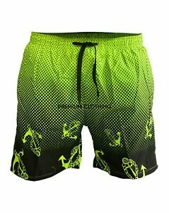 Mens Two Tone Swim Shorts Swimming Beach Palm Multi Pockets Mesh Trunks Holiday