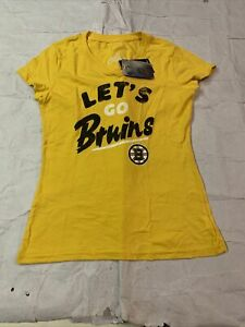 New Womens Original Fanatics NHL College Boston Bruins T-shirt Sz S