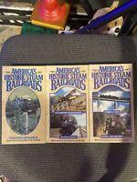 America's Historic Steam Railroads VHS Lot Of 3 1993 1994 1995 Goldhil video
