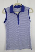 Nike Golf Womens Victory Dri-Fit Stripe Sleeveless Polo Shirt XS M