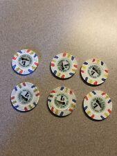 (6) $1 grand gulfport casino chips super rare