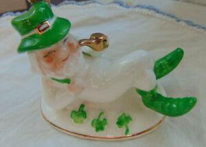 Schmid Leprechaun Figurine 1982 St Patricks Day