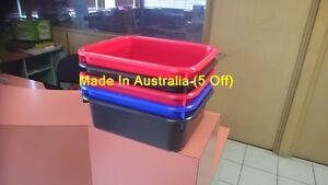 5X 9L Rectangular Wash Basin Tub, Change Engin Oil Plastic Cleaning Tray