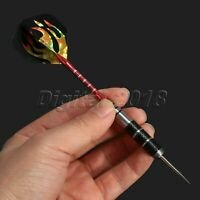 3pcs Competition Tungsten Steel Tip Darts Copper Barrel Red Flame Playing Game