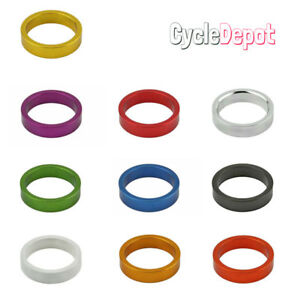 "BicycIe AIIoy 1-1/8"" ( 28.6mm) ThreadIess Headset spacer 8mm CycIing AII Colors"