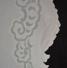 VINTAGE MADEIRA LINEN EMBROIDERED TABLECLOTH BANQUET CLOTH W/ 12 NAPKINS SS753