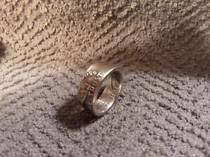 Handcrafted 1959 Franklin 90% silver half dollar coin ring   size 9 1/2