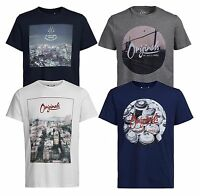 JACK & JONES Originals T-shirts New Men's Fun Crew Neck Graphic Print Cotton Tee
