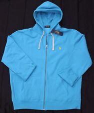 New 3XB 3XL BIG POLO RALPH LAUREN Men's fleece hoodie jacket sweatshirt blue 3X
