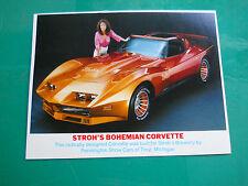 "Pennington's "" Stroh's Bohemian Corvette "" vintage PROMO MAN CAVE motorama !!!"