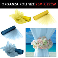 Organza Fabric Rolls Wedding Party Decor Chair Bows Table Runner Sash UK Seller