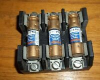 Lot of 3 -Fusetron frn-r1 2/10 Fuses W/ Buss IB0003 Fuse Holder