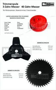 Coupe-Herbe Ensemble 40-Zahnmesser, 3-Zahnmesser Et Coupe Bobine Bobines de Fil