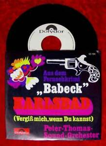 """Single Peter Thomas: Babeck """"Karlsbad"""" /Das ist die große Zeit (Polydor) Promo"""