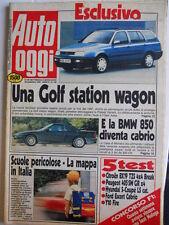 Auto OGGI n°198 1990 Test Y10 Fire Ford Escort Cabrio Citroen BX19  [Q201]