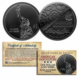 American Innovation State $1 Dollar Coin Series 2018 1st Release BLACK RUTHENIUM