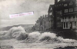 Sandsend. Early Tom Watson card. 'Rough Seas'. Franked 1919