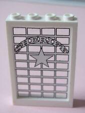 LEGO 2493c01pb05 @@ Window 1 x 4 x 5 Sheriff Pattern (Sticker) - 6755 / 6764