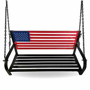 908353 Porch Swing, Red, White, Blue