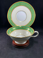 Antique Mintons Henry Birks & Sons English Bone China Tea Cup & Saucer Set H4049