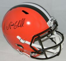 NICK CHUBB AUTOGRAPHED SIGNED CLEVELAND BROWNS FULL SIZE SPEED HELMET JSA
