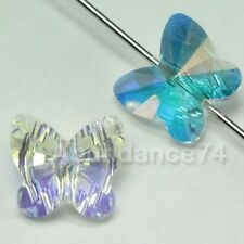 6 pieces Swarovski Element 5754 10mm Butterfly Shaped Crystal Beads CLEAR AB