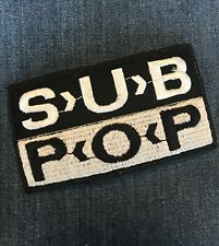 Vintage Original Nos 90s Seattle Sub Pop Record Label Iron-On Patch