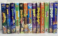 Scooby Doo VHS Lot HTF Rare Clamshell Vintage Zombie Cartoon Network Werewolf