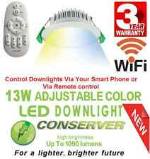 10pcs X 13W Conserver Colour Changing LED DOWNLIGHT KIT 3000K-6000K Total