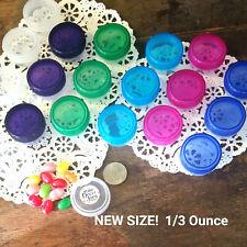 100 Special 1/3 oz #3801 Container cosmetic herb jars Transparent Lids DecoJars