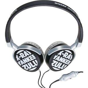 NEW* WICKED XRAY AUDIO NOISE ISOLATING DJ HEADPHONES WITH IN LINE VOLUME CONTROL