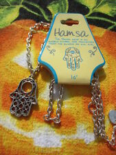 Hansa Hand Protects From Evil Pendent Necklace