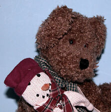 "Boyds Bears plush 14 in. jointed bear ""Brewster T. Bear"", # 912627, snowman"